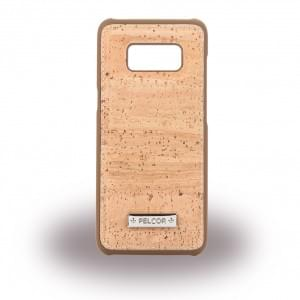 Pelcor Kork Krispy Hardcover für Samsung Galaxy S8 G950F - Braun