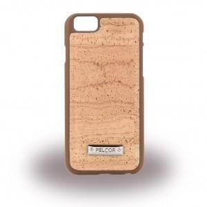 Pelcor Kork Krispy Hardcover für Apple iPhone 6s / 6 - Braun