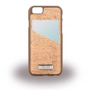 Pelcor Kork Karten Hardcover für Apple iPhone 8 / 7 - Braun