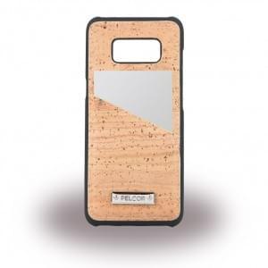 Pelcor Kork Karten Hardcover für Samsung Galaxy S8 G950F - Schwarz