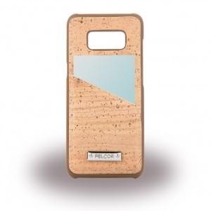 Pelcor Kork Karten Hardcover für Samsung Galaxy S8 - G950F Braun