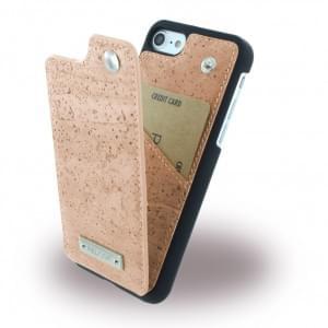 Pelcor Kork Flip Cover für Apple iPhone 8 / 7 - Schwarz