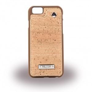 Pelcor Kork Flip Cover für Apple iPhone 8 / 7 - Braun