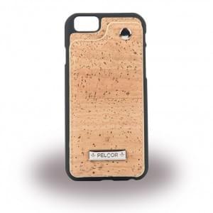 Pelcor Kork Flip Cover für Apple iPhone 6 / 6s - Schwarz