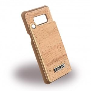Pelcor Kork Flip Cover für Samsung G950F Galaxy S8 Braun