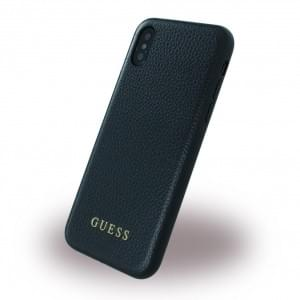 Guess Iridescent Hardcover für Apple iPhone X / Xs - Schwarz