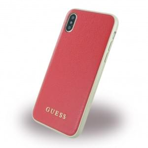 Guess Iridescent Hardcover für Apple iPhone X - Rot