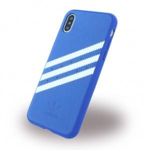 Adidas Moulded Hardcover für Apple iPhone X / Xs - Blau