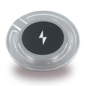 Crystal Basic induktive Kabelloses Wireless Ladepad - Qi Standard - Schwarz / Transparent