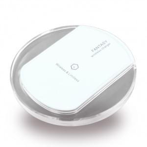 Fantasy induktive Kabelloses Wireless Ladepad - Qi Standard - Weiss / Transparent