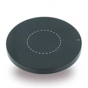 Aluminium induktive Kabelloses Wireless Ladepad / Ladegerät - Qi Standard - Schwarz