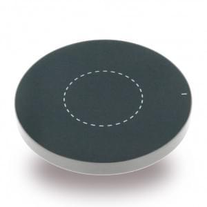 Aluminium - induktive Kabelloses Wireless Ladepad / Ladegerät - Qi Standard - Silber