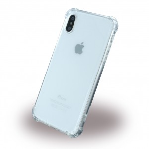 Four Coners Shockproof Silikon Cover für Apple iPhone X / Xs - Klar
