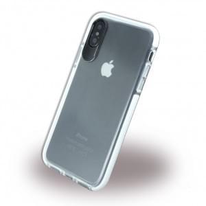 Big Eye Shockproof Soft Cover für Apple iPhone X - Klar / Weiss