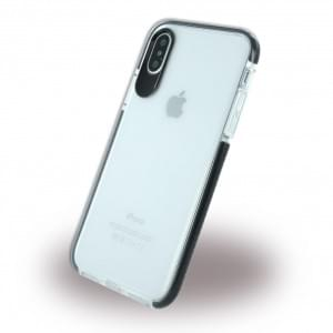 Big Eye Shockproof Soft Cover für Apple iPhone X - Klar / Schwarz