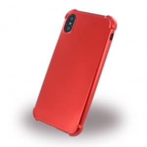 360 Grad - Protective Cover für Apple iPhone X / Xs - Metallisch Rot