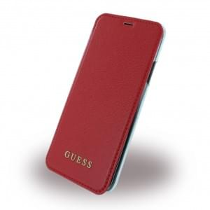 Guess IriDescent Book Cover für Apple iPhone X - Rot