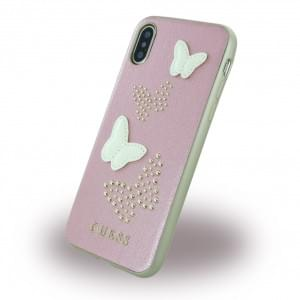 Guess - Studs and Sparkles - Hardcover für Apple iPhone X / Xs - Pink