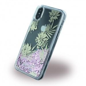 Guess Liquid Glitter Hardcover für Apple iPhone X - Pink Rose