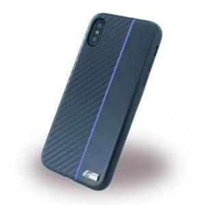 BMW Bi-Material Carbon Hardcover für Apple iPhone X / Xs - Navy