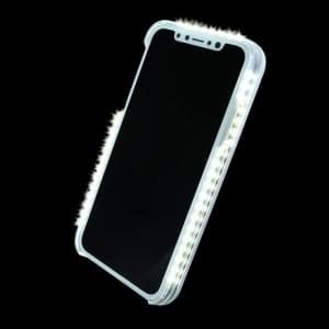 Selfie Led Hardcover mit Fotolicht für Apple iPhone X - Weiss