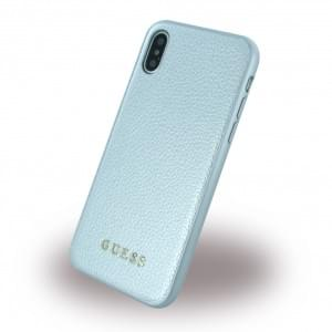 Guess IriDescent Hardcover für Apple iPhone X - Silber