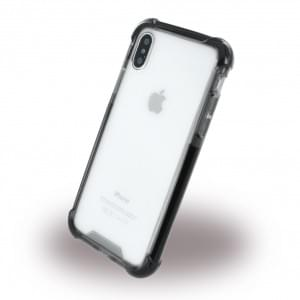 Four Coners Shockproof Schutzhülle für Apple iPhone X - Klar / Schwarz