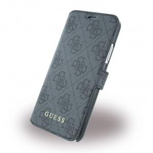 Guess 4G Book Cover für Apple iPhone X - Grau