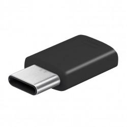Original Samsung Adapter Micro USB auf USB Typ C Schwarz