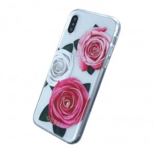 Guess - Flower Desire - Hardcover für Apple iPhone X - Pink / Weiss