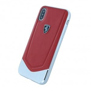 Ferrari - Heritage Echtleder - Hardcover für Apple iPhone X - Rot