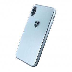 Ferrari Heritage Aluminium Hardcover für Apple iPhone X - Silber