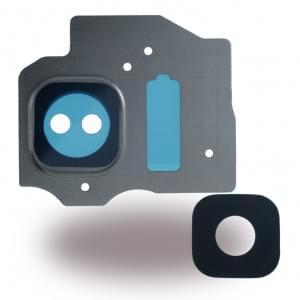 Ersatzteil - Kameralinse + Kamerafenster für Samsung Galaxy S8 G950F / Galaxy S8 Plus G955F - Arctic Silber