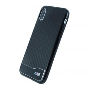 BMW M Carbon + Aluminium Hardcover für Apple iPhone X - Schwarz