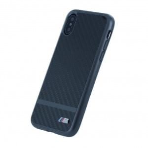BMW M Carbon Aluminium Stripe Hardcover für Apple iPhone X - Gun Metal