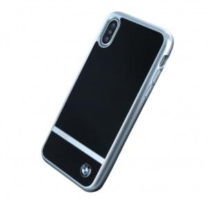 BMW Aluminium Stripe HC Hardcover für Apple iPhone X - Schwarz