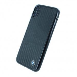 BMW Carbon Hülle / Hardcover für iPhone Xs Max Schwarz
