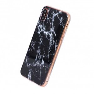 Uunique Street Marmor Silikon Hülle für Apple iPhone X - Metallic
