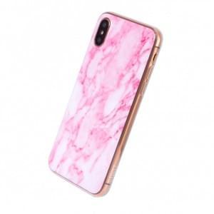 Uunique Street Marmor Silikon Hülle für Apple iPhone X - Pink