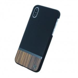 Uunique Walnut Wood Hardcover für Apple iPhone X - Schwarz
