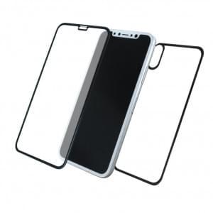 Front & Back Displayschutzglas für Apple iPhone X - 5D - Schwarz