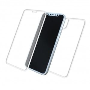 Front & Back Displayschutzglas für Apple iPhone X - 5D - Weiss