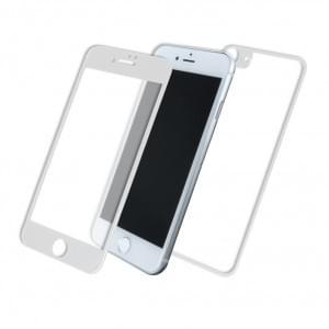 Front & Back Displayschutzglas für Apple iPhone 8 / 7 - 5D - Weiss