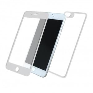 Front & Back Displayschutzglas für Apple iPhone 8+ Plus / 7+ Plus - 5D - Weiss