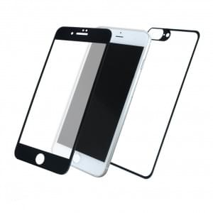 Front & Back Displayschutzglas für Apple iPhone 8+ Plus / 7+ Plus - 5D - Schwarz