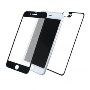 Front & Back Displayschutzglas für Apple iPhone 8+ Plus / 7+ Plus - 5D - Schwarz