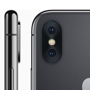 Kameralinsen Schutz Kappe für Apple iPhone X Aluminium Schwarz