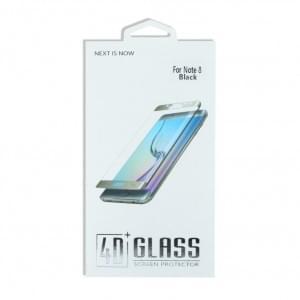 4D Premium Glas Displayschutzfolie für Samsung Galaxy Note 8 N950F Schwarz