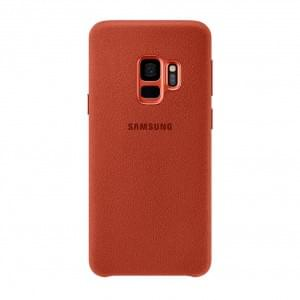Original Samsung EF-XG960AR Alcantara Hardcover für Galaxy S9 Rot