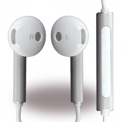 Huawei AM116 Kopfhörer 3,5mm Klinke Weiss / Silber